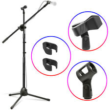 Microphone Stand, Adjustable Tripod Boom Mic Stands with 2 Mic Clip Holders