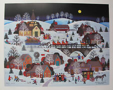 Jane Wooster Scott JINGLE BELLS AND CAROLERS Hand Signed Ltd Edition Lithograph