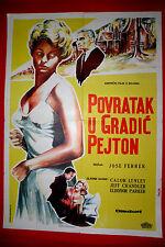 RETURN TO PEYTON PLACE 1962 CAROL LYNLEY JEFF CHANDLER RARE EXYU MOVIE POSTER