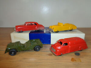 TOOTSIE TOY LOT OF FOUR 4-1/4 INCH LONG VEHICLES