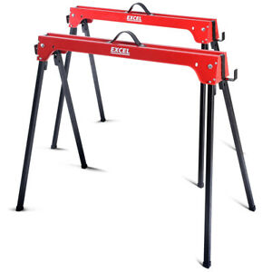 Excel Trestle Saw Horse Twin Pack with Handles 500KG Max Load