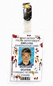 Dexter Forensic Technician Blood Cosplay Prop Gift Costume Comic Con Halloween