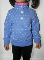 Crew Clothing Kids Girls Pink & Blue Cotton Sweatshirt Jumper Pullover 4 6 7 10