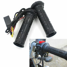 """7/8"""" 22mm Electric Hand Heated Molded Motorcycle Grips ATV Warmers Hot Handlebar"""