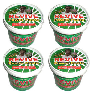 4 x Revive Power Paste : Cleaning Ovens Cookers Hobs BBQ