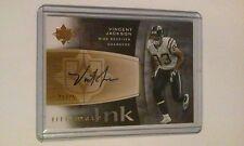 "2007 Vincent Jackson Upper Deck "" Ultimate Ink "" Autograph Chargers x/25 Card"