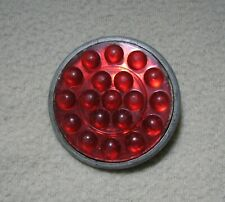 """Red Plastic Marble Reflector for Rat Rod, Auto, Truck, Motorcycle 2"""" Diameter"""