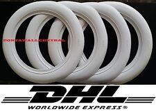 "13"" Wide White Wall Port a walls tire insert trim set hot rod rat rod car"