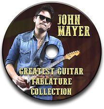 JOHN MAYER ROCK GUITAR TAB TABLATURE SONG BOOK ANTHOLOGY SOFTWARE CD