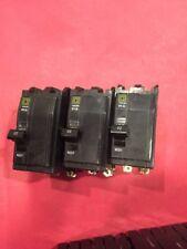 Lot Of 3 Square D Qob Qob220 2 Pole 20 amp Circuit Breaker 10Ka 1 Used