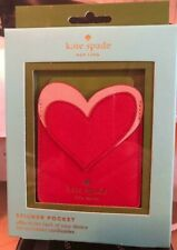 NWT Kate Spade Heart Phone Sticker Pocket Posey - Red