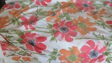 VINTAGE fitted poppies Single Twin sheet FABRIC MOD
