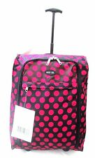 Lightweight-Cabin-Hand-Luggage-Carry-On-Wheeled-Bag-Trolley-Case Red Rose Spot