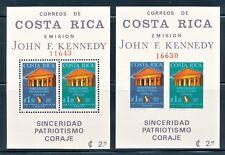 COSTA RICA 1965 J. F. KENNEDY PERF & IMPERF SOUVENIR SHEETS SCOTT C420A