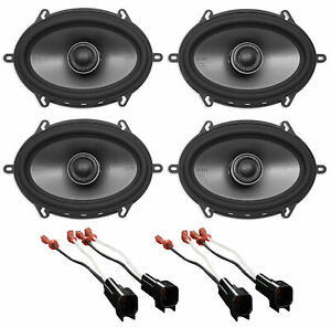 "Polk 5x7"" Front+Rear Factory Speaker Replacement Kit For 2007-2008 Ford F-150"