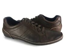 Cole Haan Men's Size 11 Dark Soft Brown Leather Driver Sneakers Shoes EUC