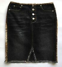 Blumarine jeans mini gonna tubo tubino vintage tg 42 usata tgirata maculata T632