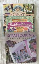 3 Scrapbook Books Ideas Projects Tips Techniques Rubber Stamping Hardcover Craft