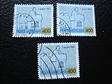 VATICAN - timbre yvert et tellier n° 722 x3 obl (A28) stamp (A)