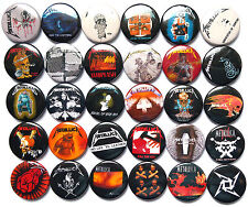 METALLICA Button Badges Pins Master of Puppets Creeping Death Whiplash Lot of 30