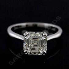 Mothers Day 1Ct D/VVS1 Asscher-Cut Diamond Engagement Ring 14k White Gold Over