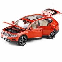 1:32 All New Tiguan L SUV Metall Modellauto Spielzeug Kinder Pull Back Orange