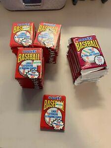 NEW Sealed Packs 1991 Fleer MLB Baseball Cards  34 + 6 Packs