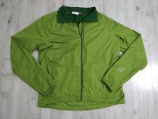 Ibex Green Zip Up Cycling Jacket Green Merino Wool Polyester Men's Large