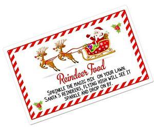 24/48 Magic Reindeer Christmas Food Stickers Labels