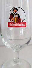 Vintage Schultheiss Bier 0.2l Footed German Beer Glass Germany Barware