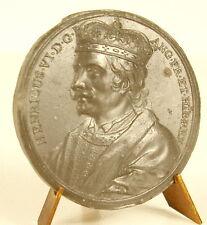 Médaille Roi King Henricus Henri HENRY VI Crowned robed sc Jean Dassier medal