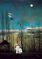 Henri Rousseau - Carnival Evening -  A4 size Canvas Art Print Poster No Framed