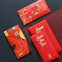 Pack of 10PCS Chinese New Year Money Envelope HongBao Red Packet Lucky Money Bag