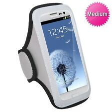 Grey Gym Jogging Universal Armband Pouch Case Dell Venue GSM Phone 3G Android
