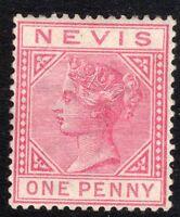 St Kitts-Nevis 1882 carmine 1d crown CA perf 14 mint SG27a