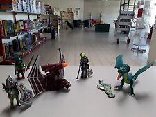 Playmobil 4836 Drachenturm Orginal Zubehör Drache,Kattapult Ritter und Magier