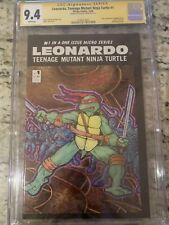 LEONARDO, Teenage Mutant Ninja Turtles #1 🔥 CGC 9.4 SS Signed By Eastman L@@K!
