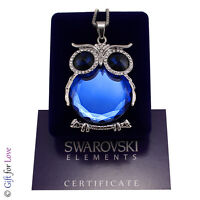 Collana lunga donna argento Swarovski Elements originale G4Love gufo cristalli