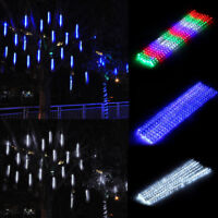 30/50cm 192/320 LED 8 Falling Rain Drop Icicle Snow Fall String LED Lights Decor