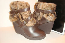 Baby Phat Womens NWB Demaris BBOAUG11 Brown Boots With Fur Size 11 MED NEW