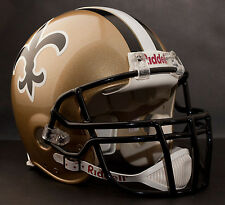 DREW BREES NEW ORLEANS SAINTS Schutt OPO-DW Football Helmet FACEMASK - BLACK