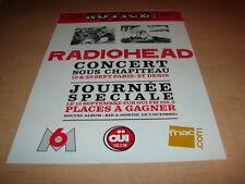 RADIOHEAD - IN CONCERT!!!!!!!!!!!!!! PUBLICITE / ADVERT
