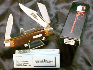 "Schrade 8OT Knife Master Mechanic ""SFO"" USA 1980's Inscribed Stockman & Package"