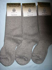 LADIES COTTON COOLMAX WALKING ANTI BLISTER LOOP SOCKS 3 PAIR SMALL MADE IN UK