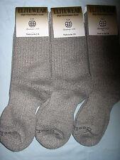 Ladies Cotton COOLMAX Walking Anti BLISTER Loop Socks 3 Pair Small Made in UK