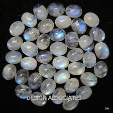NATURAL WHITE MOONSTONE 8X6 MM OVAL CUT CALIBRATED COMMERCIAL 5 PC SET