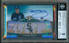 2011 Topps Triple Threads CHRIS SALE Auto/Relic Jersey Rookie #27/50 BGS 9