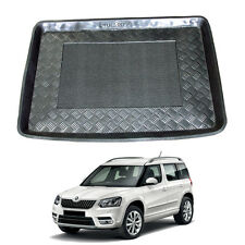 LDPE boot liner tray black rubber load mat bumper protector 3pc Skoda Yeti 2009+
