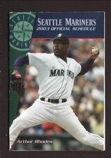 Arthur Rhodes--2003 Seattle Mariners Pocket Schedule--Washington Mutual