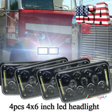 """Newest 4x6"""" 60W LED Headlights High Low Lamps for Peterbilt 379 378 H4656 H4666"""
